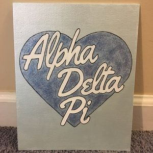 Other - 8x10 Alpha Delta Pi canvas